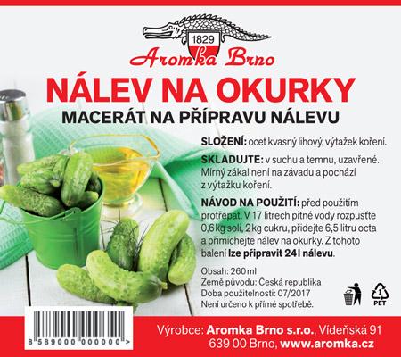 Ukázka etikety nového výrobku